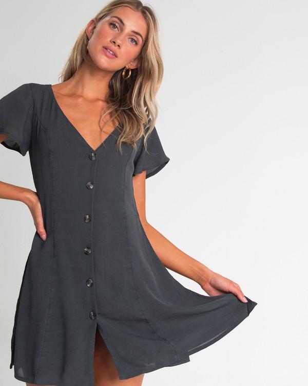 0 Sunlight Dreamin Mini Dress Black JD90TBSU Billabong