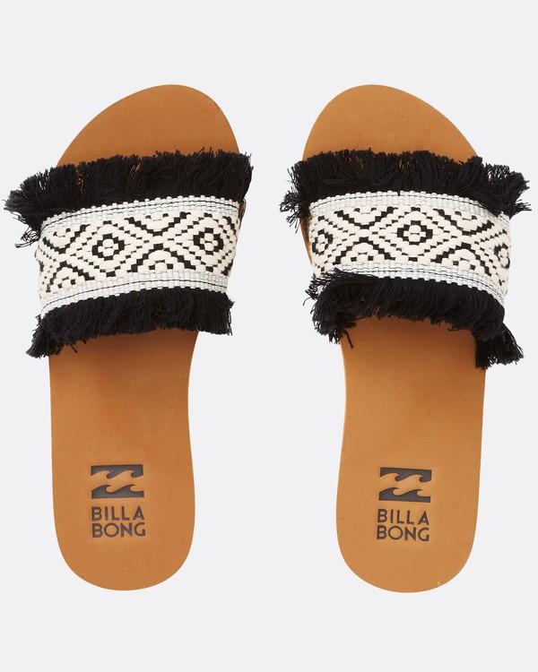 0 One Way Slide Sandal Black JFOTQBON Billabong