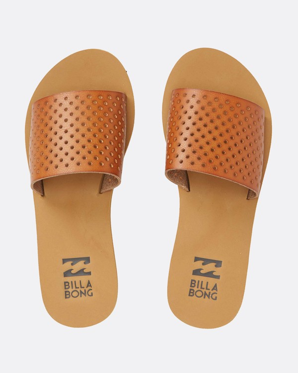 0 One Way Slide Sandal Brown JFOTQBON Billabong