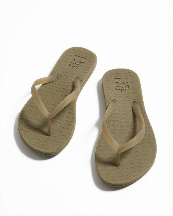 0 Good Waves Eco-Friendly Beach Sandals Green JFOTTBGO Billabong