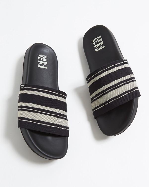 0 Surf Retreat Slide Sandals Black JFOTTBSR Billabong