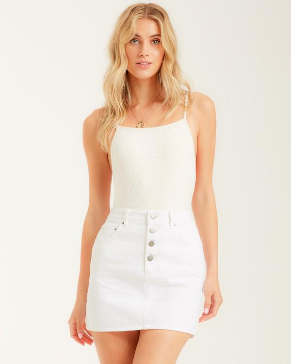 0 Cute As A Button Skirt White JK022BCU Billabong