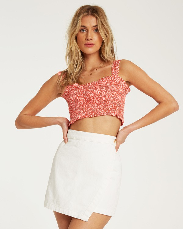 0 Sun Valley Wrap Skirt White JK21TBSU Billabong