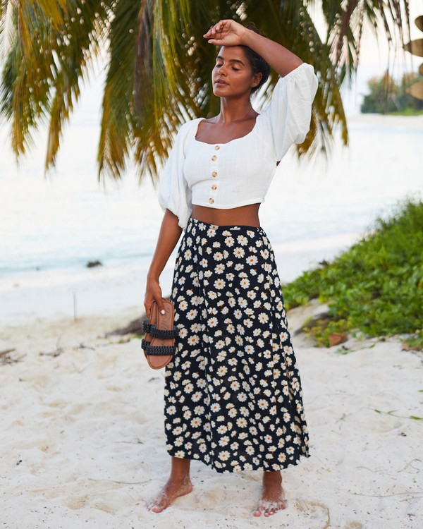 0 By The Water Skirt Black JK21WBBY Billabong