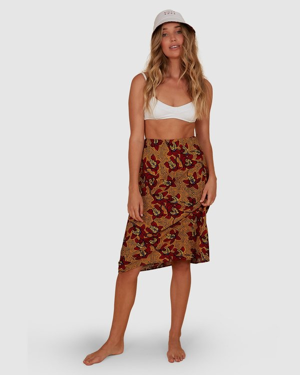 0 Sunbaked Skirt Red JK871BSU Billabong