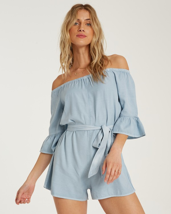 0 Fun For Now Romper Blue JN02TBFR Billabong