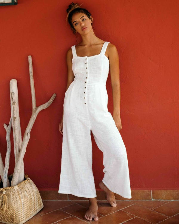 0 Paint The Town Jumpsuit White JN03VBPA Billabong