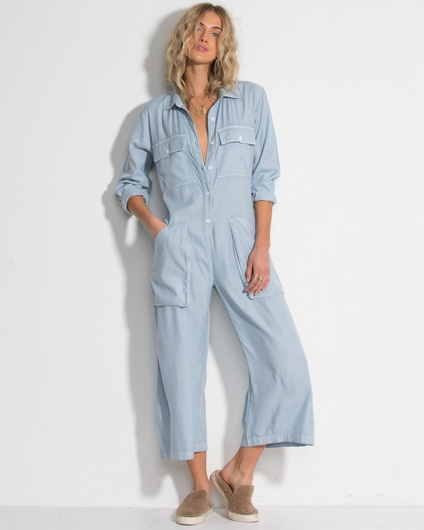 0 Work At It Jumpsuit Blue JN18WBWO Billabong