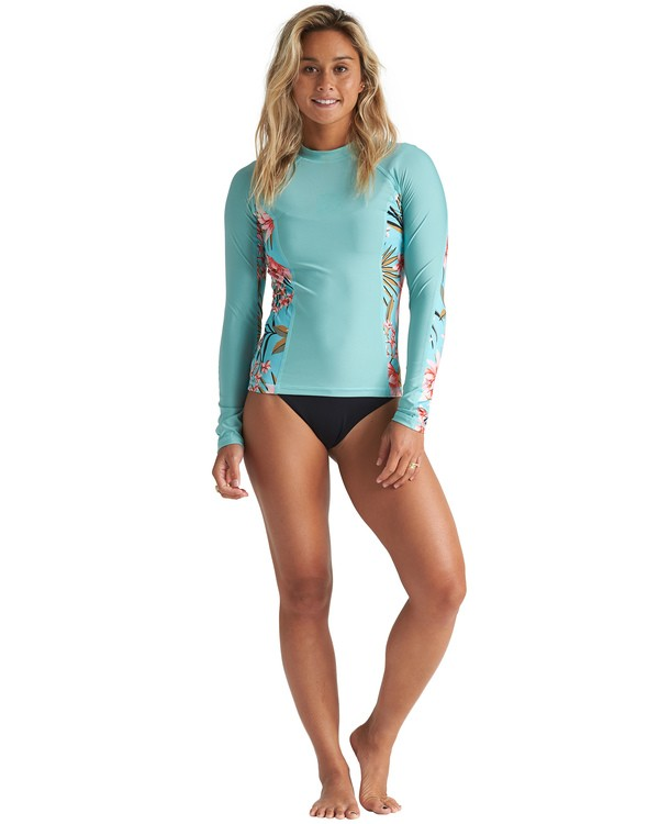 0 Core Surf Daze Long Sleeve Rashguard Blue JR531BSD Billabong