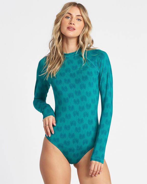 0 Core Mock Neck Bodysuit Rashguard Blue JR56TBBS Billabong
