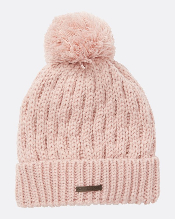 0 Women's Good Vibes Only Pom Pom Beanie Pink JSBNQGOO Billabong