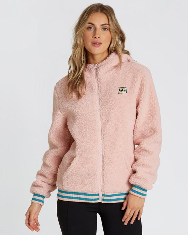 0 Women's Blossom Sherpa Hoodie Pink JSN6QBLO Billabong