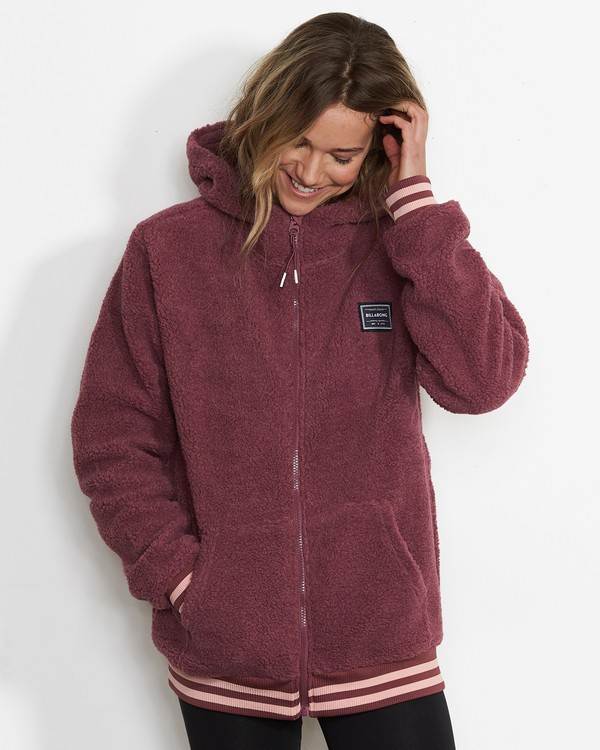 0 Women's Blossom Sherpa Hoodie Red JSN6QBLO Billabong