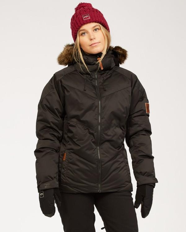 0 Women's Daytime Puffer Snow Jacket Black JSNJ3BDA Billabong