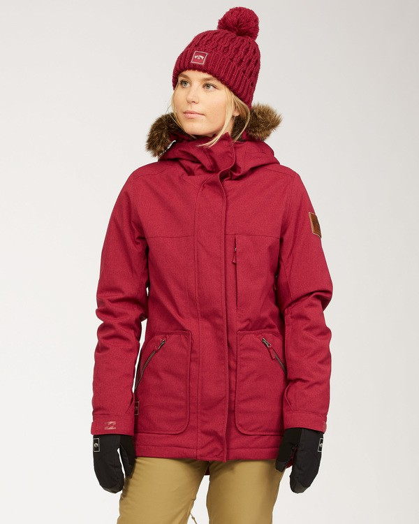 0 Women's Into The Forest Snow Jacket Red JSNJ3BIN Billabong