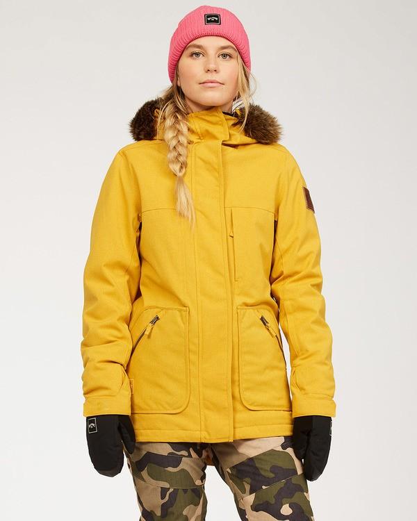 0 Women's Into The Forest Snow Jacket Brown JSNJ3BIN Billabong
