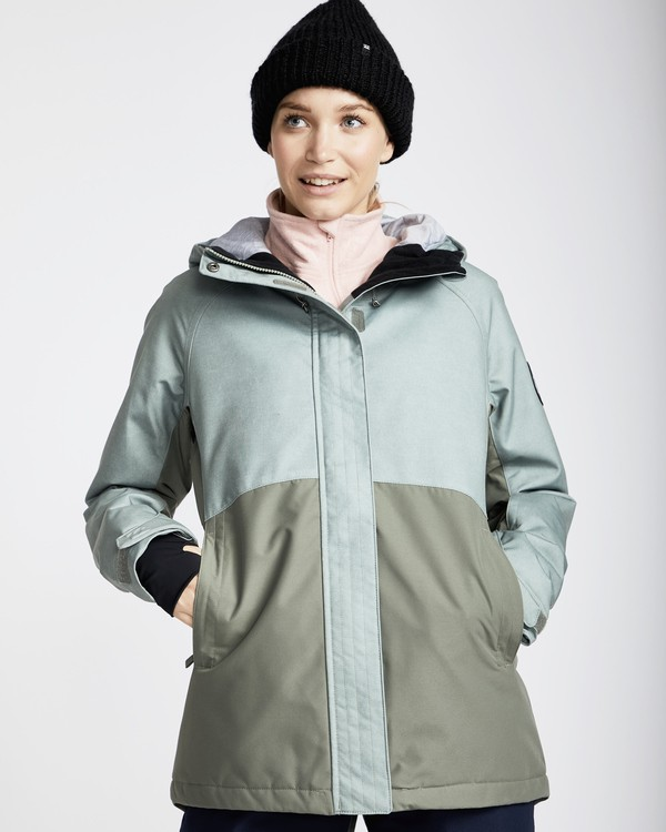 0 Women's Sienna Outerwear Jacket Green JSNJQSIE Billabong