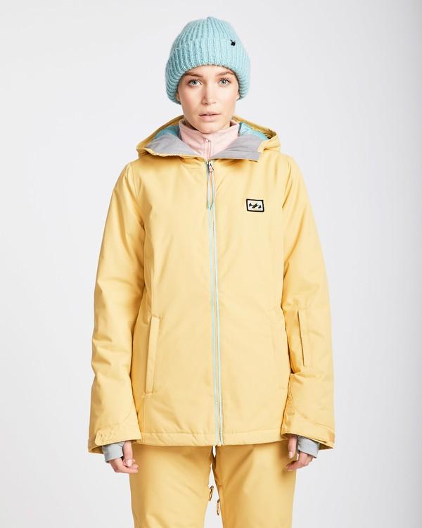 0 Women's Sula Solid Outerwear Jacket Beige JSNJQSUL Billabong