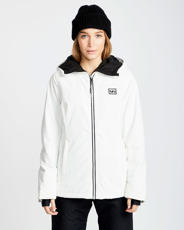 0 Women's Sula Solid Outerwear Jacket White JSNJQSUL Billabong