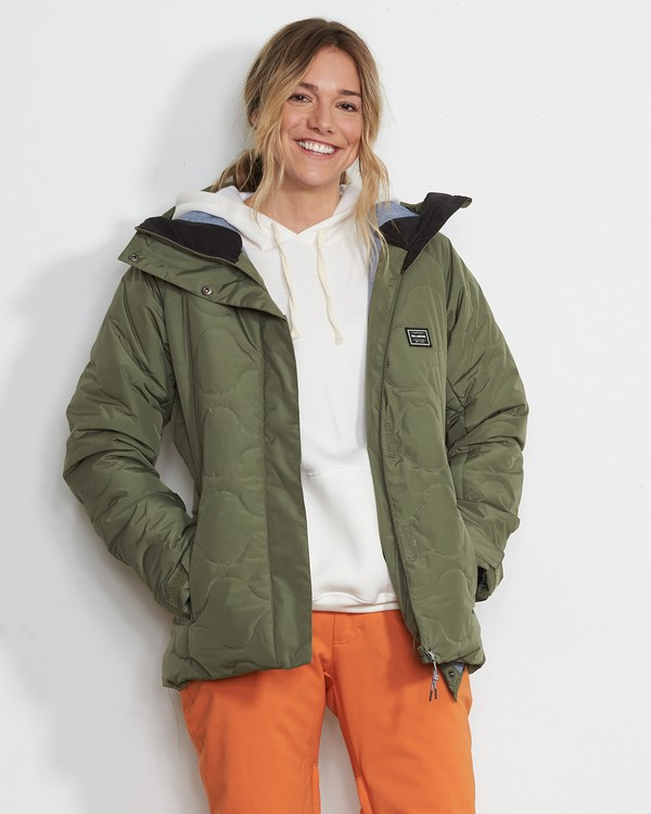 0 Women's Bliss Snow Jacket Green JSNJVBBL Billabong
