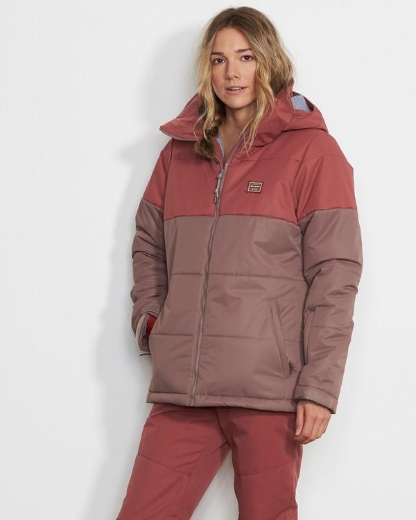 0 Women's Down Rider Snow Jacket Purple JSNJVBDR Billabong