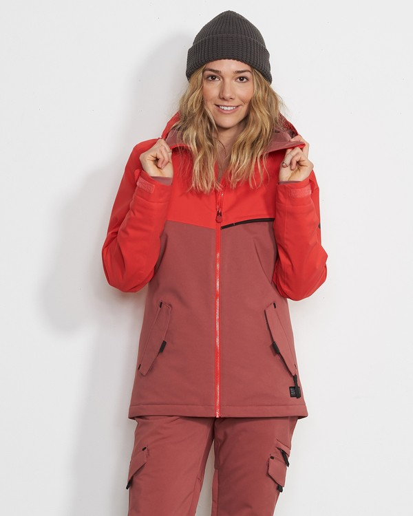 0 Women's Eclipse Snow Jacket Red JSNJVBEC Billabong
