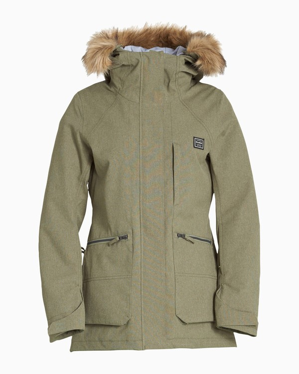 0 Women's Into The Forest Snow Jacket Green JSNJVBIN Billabong