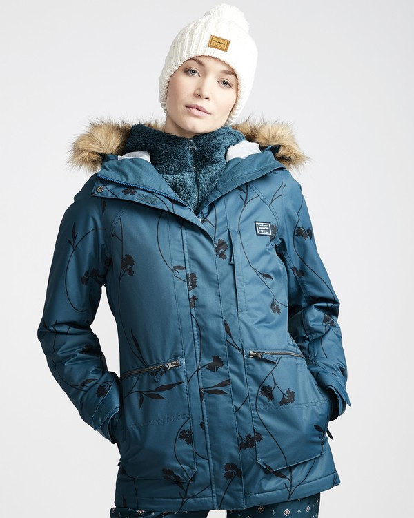 0 Women's Into The Forest Snow Jacket Blue JSNJVBIN Billabong