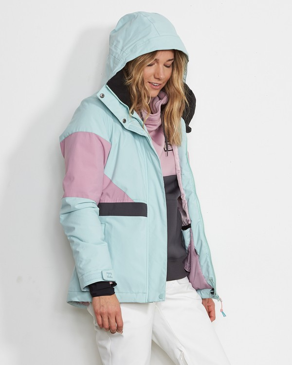 0 Women's Say What Snow Jacket Blue JSNJVBSW Billabong