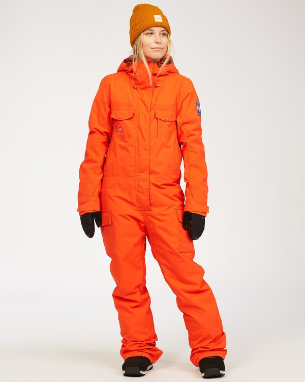 0 Women's Break Of Dawn Snow Suit Orange JSNP3BBD Billabong