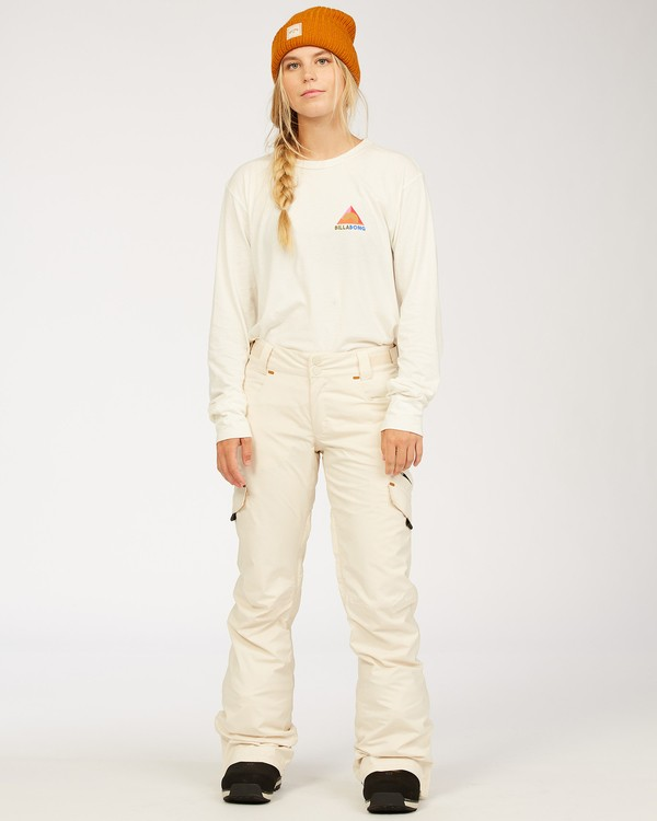0 A/DIV Women's Nela Snow Pants White JSNP3BNE Billabong