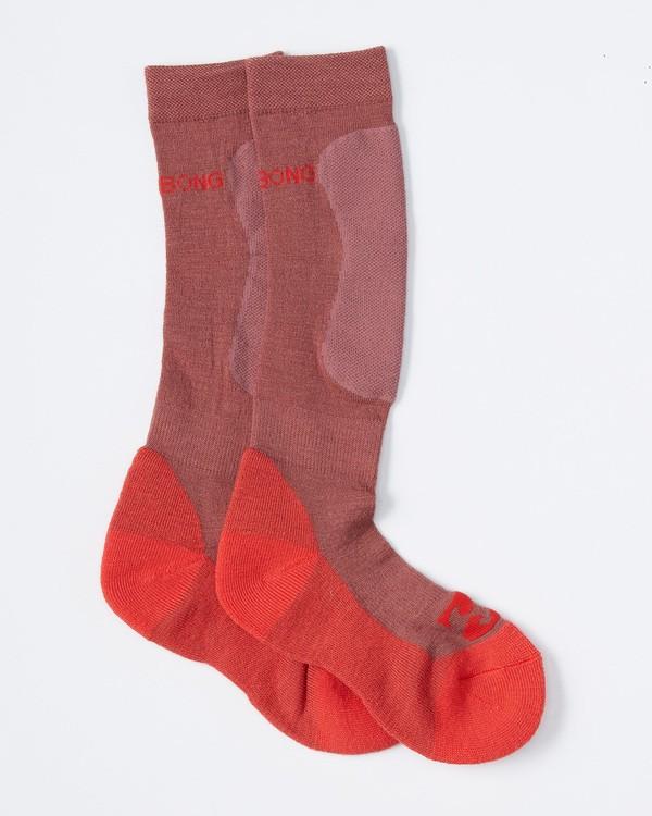 0 Women's Compass Merino Snow Sock Purple JSSOVBCO Billabong