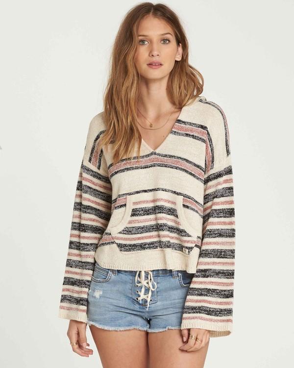 0 Baja Beach Hooded Sweater Beige JV01QBBA Billabong