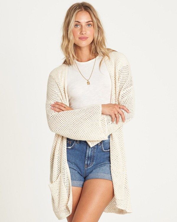 0 Beyond The Beach Cardigan White JV01UBBE Billabong
