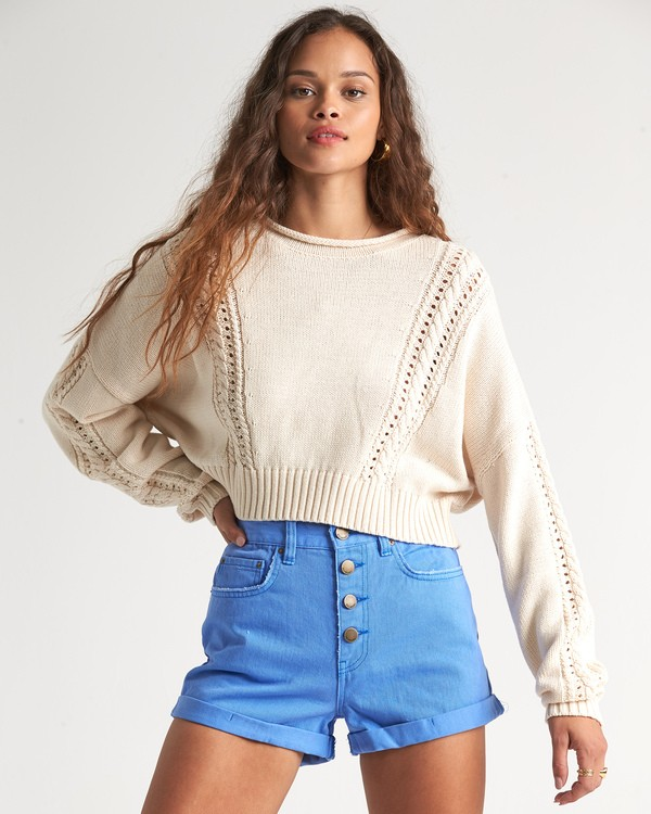 0 Night Falls Sweater White JV02WBNI Billabong