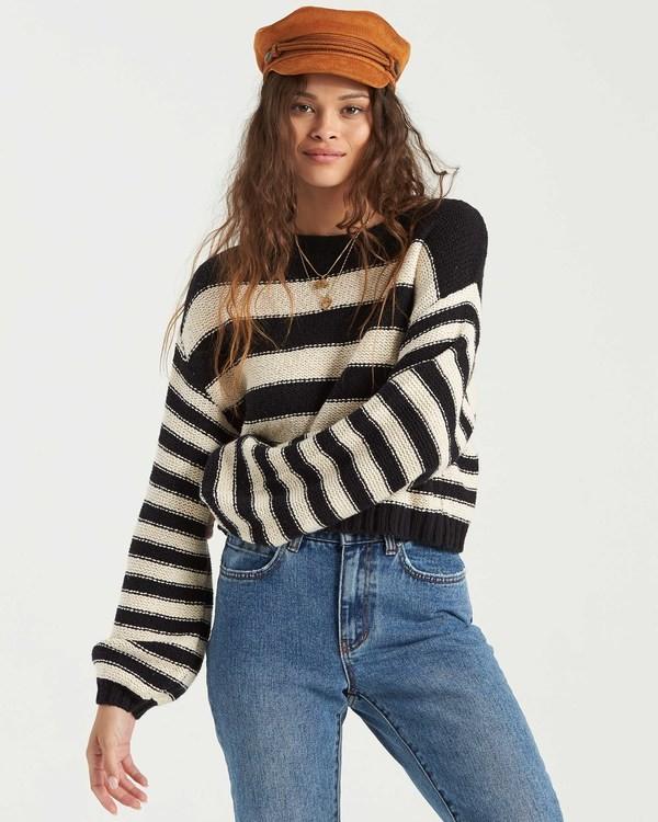 0 Seeing Stripes Sweater Black JV033BSE Billabong