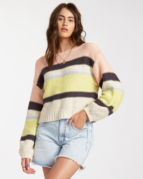 0 Seeing Stripes Sweater Multicolor JV033BSE Billabong