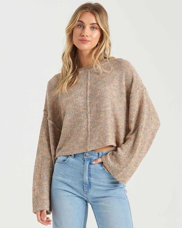 0 Sitting Pretty Sweater Grey JV043BSI Billabong