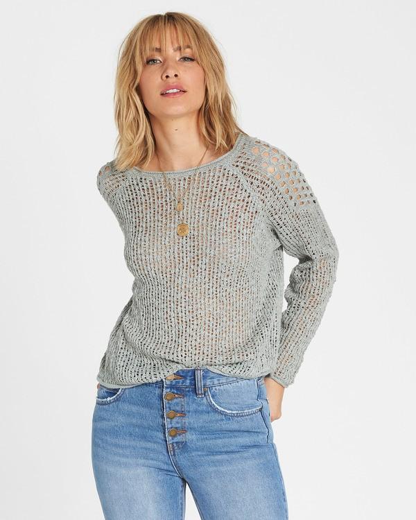 0 Sea Ya Soon Open Knit Sweater Blue JV06PBSE Billabong