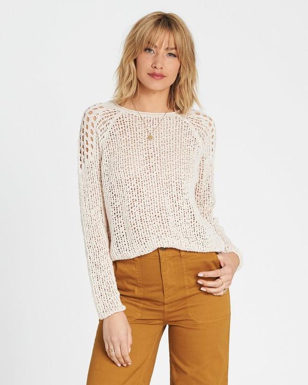 0 Sea Ya Soon Open Knit Sweater White JV06PBSE Billabong
