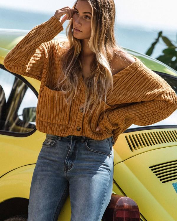 0 Cali Nights Sweater Yellow JV06WBCA Billabong