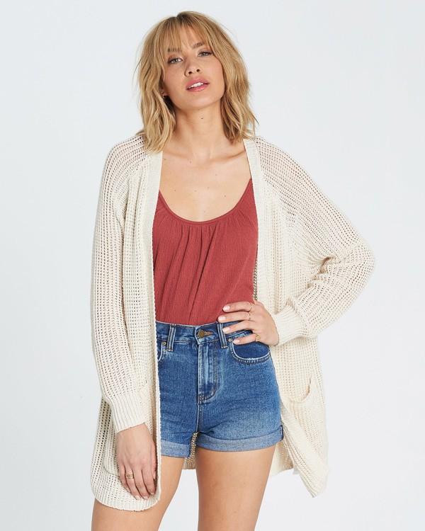 0 Laid Back Cardigan Sweater White JV07PBLA Billabong