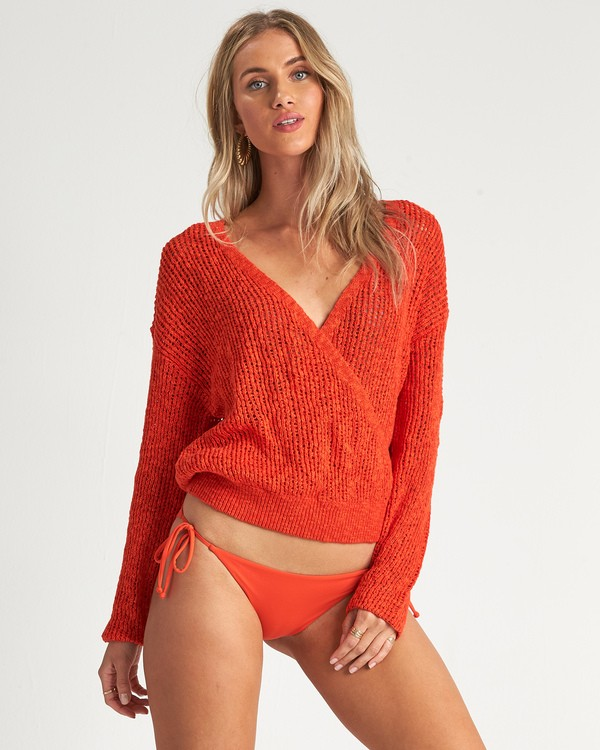 0 Sweet Bliss Sweater Orange JV091BSW Billabong