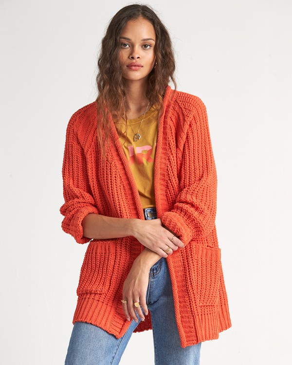 0 Warm Up Sweater Orange JV09WBWA Billabong
