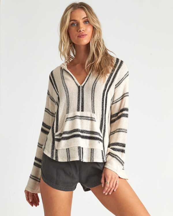 0 Baja Beach Sweater White JV101BBA Billabong