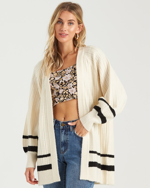 0 Between The Lines Sweater White JV103BBE Billabong