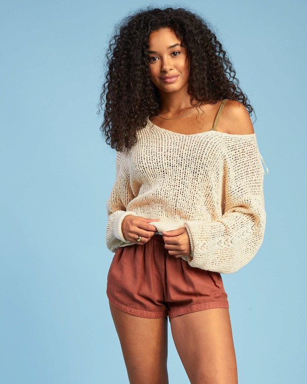 0 Feel The Breeze Sweater White JV193BFE Billabong