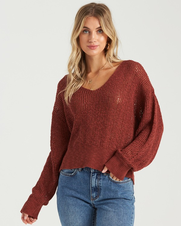 0 Feel The Breeze Sweater Brown JV193BFE Billabong