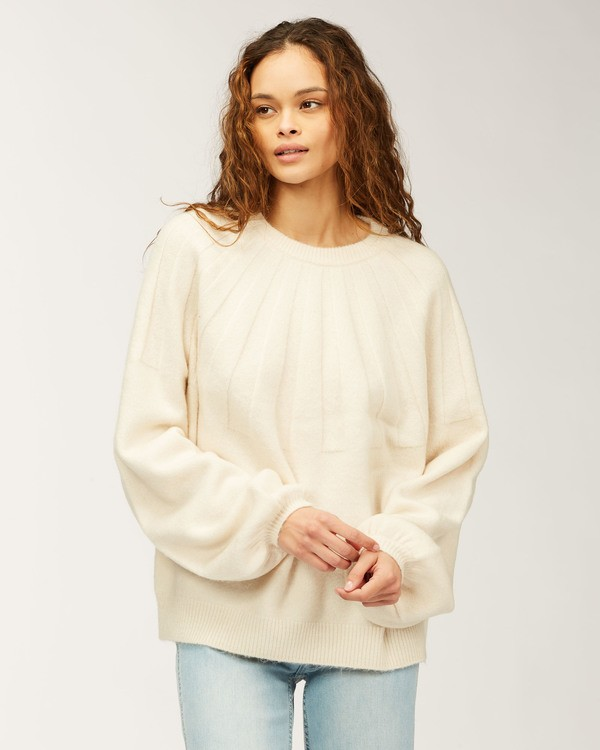 0 Wild Spaces Sweater White JV623BWI Billabong