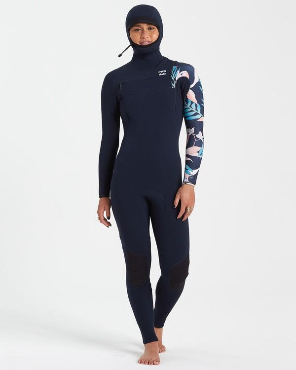 0 5/4 Furnace Comp Chest Zip Hooded Wetsuit Purple JWFU3BF5 Billabong